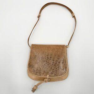 Handbags - Handcrafted African Light Tan Leather Saddle Bag